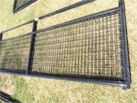 """2 Behlen 12' Wire filled 1 5/8"""" black Gates"""