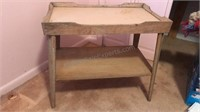 2Vintage Wooden Side Table / TV Stand with shelf