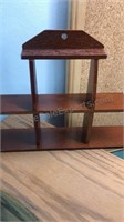 Collection of Wooden Display Shelves and Racks