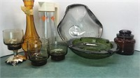 Collection of Mid-Century Design Glass Items
