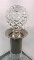 "Crystal Mikasa Bowl 4"" Tall and 2 glass Carafes"