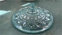 """Vintage Cut Glass 11"""" Serving Dish and other"""