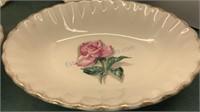 4pcs Vintage WS George  Ceramic Bowls with Rose