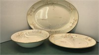 P&G Clementine Vintage Ceramic serving Trays and