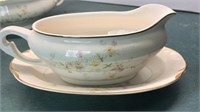 P&G Clementine Vintage Gravy Boat and Covered