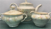 P&G Clementine Vintage Teapot, Cream pitcher and