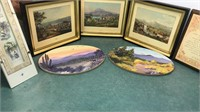 3 Vintage Swiss Landscape Prints 8x7 and other