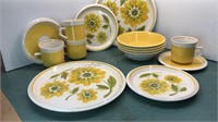 Vintage Sears Iron Stone Spring Morning 4pc Place
