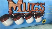 Gevalia Countertop Coffee Maker Mugs and rack and