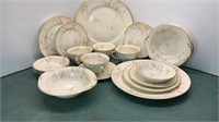 Pope Gosser China Clementine 4pc Place Settings
