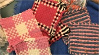 Collection of Vintage Baby Blankets Potholders,