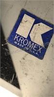 Chromex Vintage Stainless Steel Serve Trays, Wood