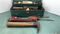 Vintage Metal Tool Box with Contents
