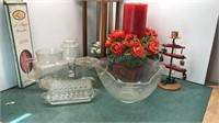 Glassware and Decorative Candle Items
