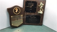 2 Vintage Sports Appreciation Plaques
