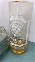 2 Vintage Glass Oil Burning Hurricane Lamps 18