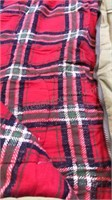 2 Vintage Sleeping Bag With Plaid Flannel  Liners