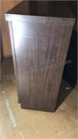 "Vintage Wood Dresser 4 Drawers Brass Hardware 42"""