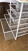 "Wire Basket Craft Storage Table 30x19x23"" Located"
