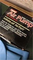 2 Twin Size Airbeds Air Pump and Collection of