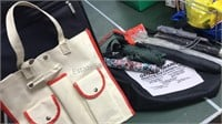 Suitcase Tote Bags and Collection of Umbrellas