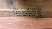1938 Vintage Lane Cedar Chest with key and drawer