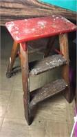 Vintage 2 Ft Wooden Step Ladder