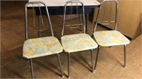 Vintage Children's Size Table and 3 Chairs