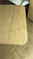 Vintage Drop Leaf Table on Wheels 36x20 folded
