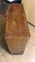 "Vintage Wood Bookcase 1 shelf 28"" Tall"
