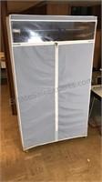"Portable Wardrobe Plastic Tube Frame 61"" Tall"
