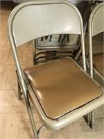 5  Vintage Metal Filding Chairs