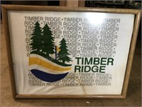 Timber Ridge Terrycloth Towel in a wood frame