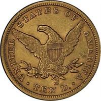 $10 1862-S PCGS AU55 CAC
