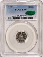 H10C 1865 PCGS PR67 CAC
