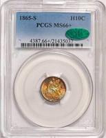 H10C 1865-S PCGS MS66+ CAC