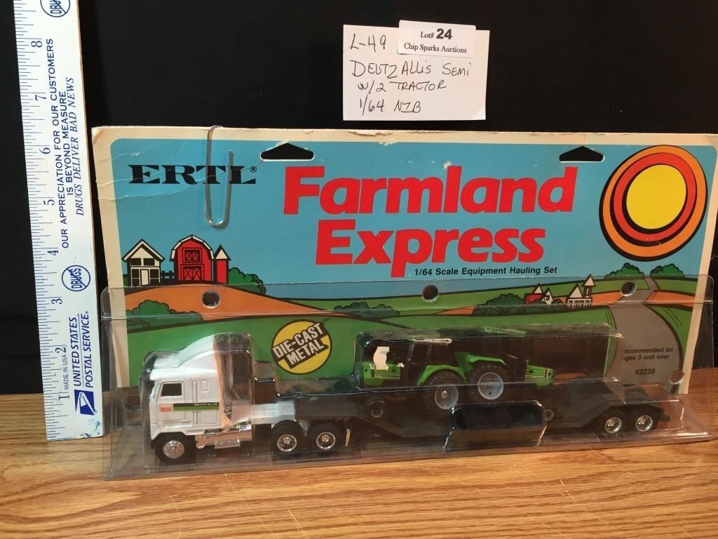 ertl farmland express deutz allis semi w 2 tracts chip sparks auctions ertl farmland express deutz allis semi