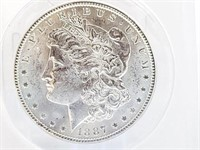 1887 Morgan Dollar MS62