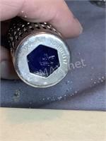Cobalt Blue & Silver Salt & Pepper Shakers