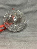Leaded Crystal Holiday Ornament 2.5 in