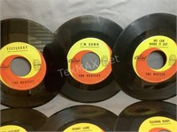(6) Vintage The Beatles 45 Records
