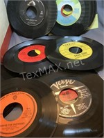 35+ Vintage 45 Records and Case