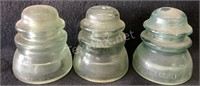 (3) Green Insulator Glass