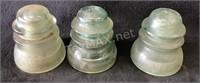 (3) Green Insulator Glass