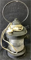 Cast Iron Electric Lantern with Glass Insert