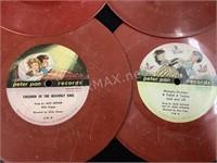 (4) Peter Pan Records 45 Albums Lullabys