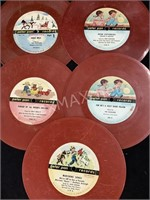 (5) Peter Pan Records 45 Album Children's Songs