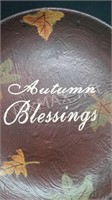 Hand Painted Autumn Blessings Wall Decor