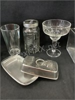 Lot of Various Sizes Glasses, Mugs,Jars and Vase