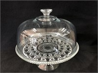 Glass Cake Dish With Glass Top